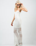 Side View of Netted Maxi Dress