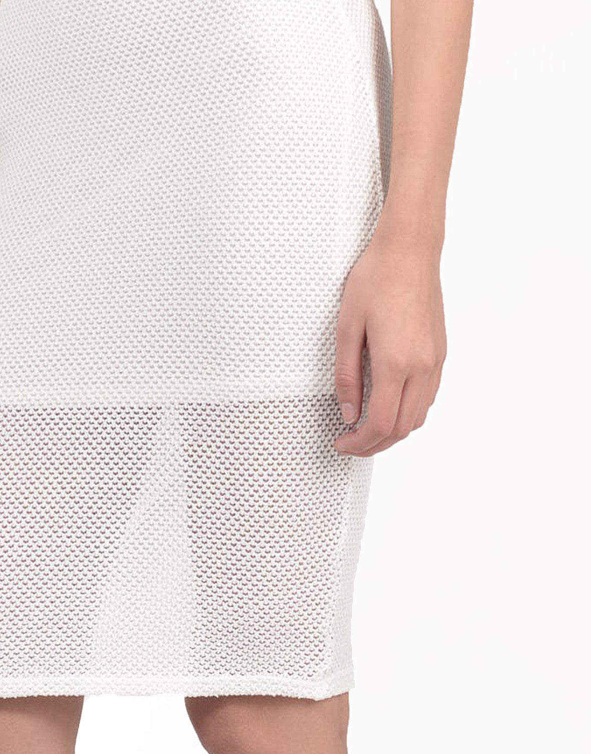 Detail of Netted Midi Dress