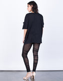 Back View of Night Owl Mesh Leggings