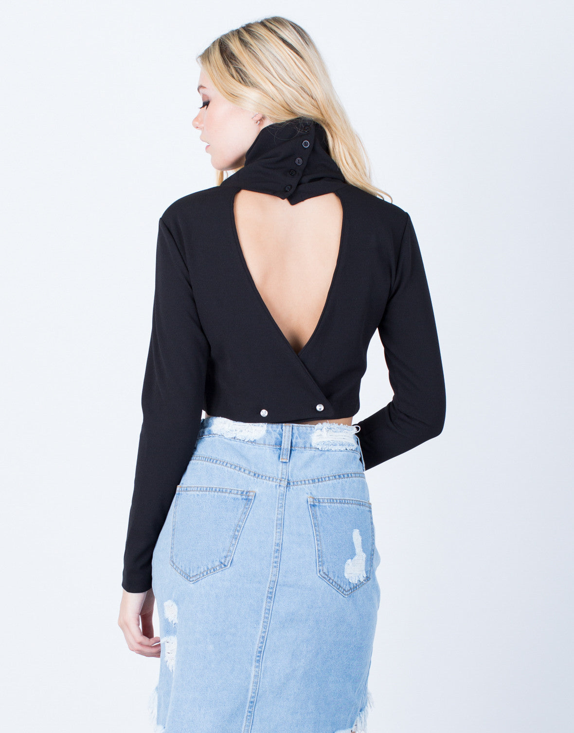 Nothing to Lose Plunging Crop Top - 2020AVE