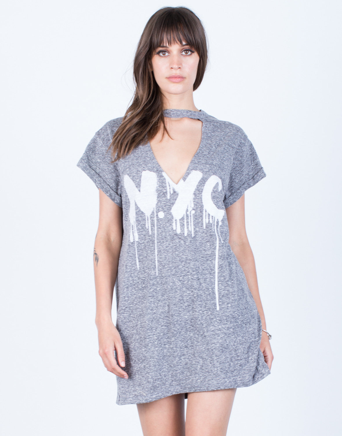 Front View of NYC Tunic Tee