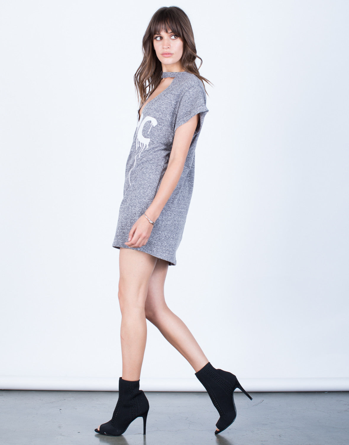 Side View of NYC Tunic Tee
