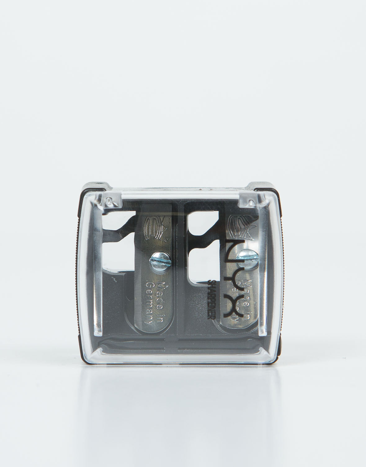 Front View of NYX Pencil Sharpener