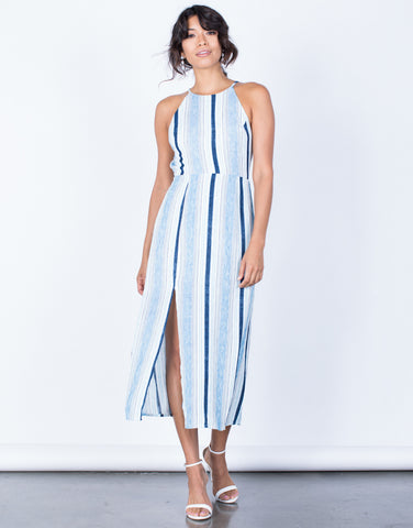 Front View of Oceanside Midi Dress