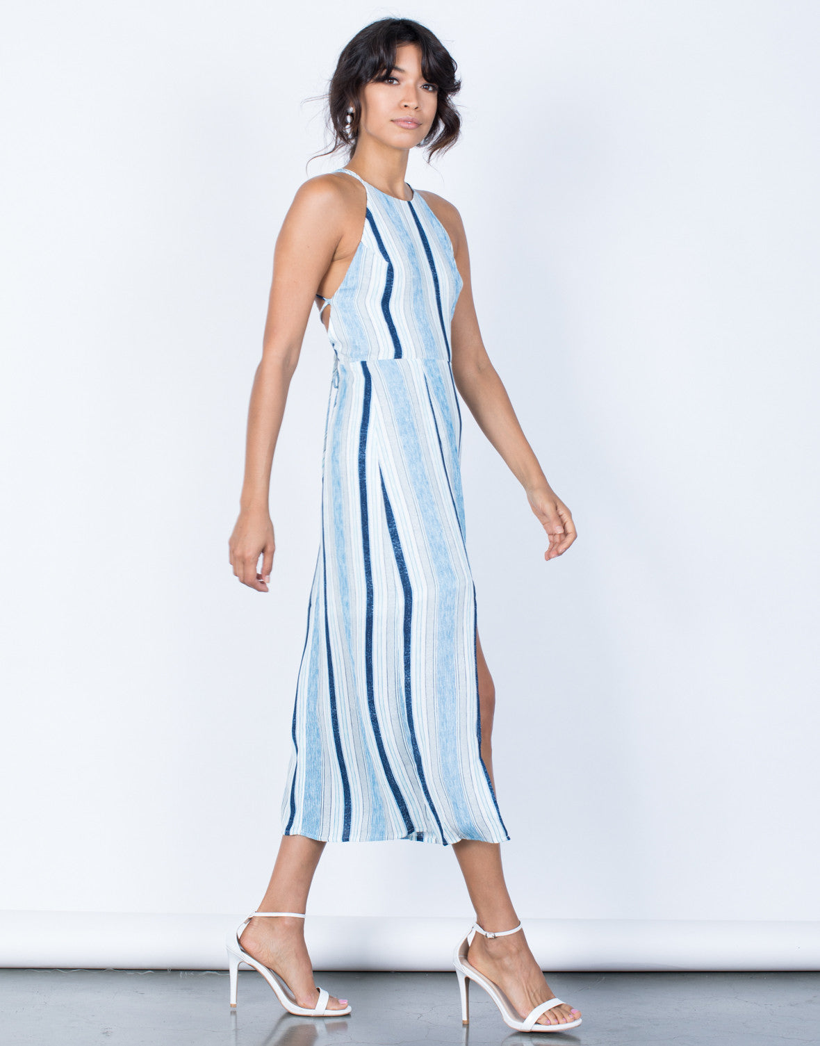 Side View of Oceanside Midi Dress