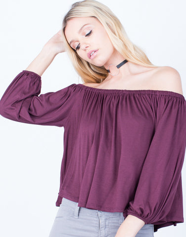 Detail of Off-the-Shoulder Flow Top