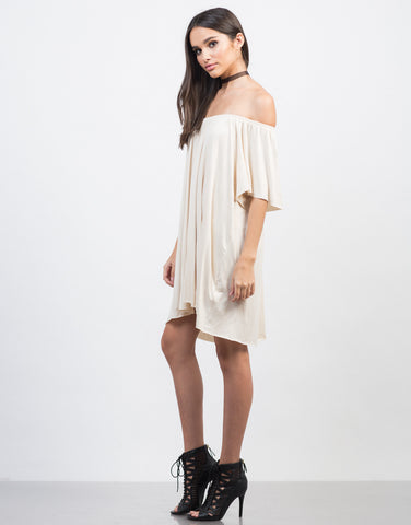 Side View of Off-the-Shoulder Tee Dress