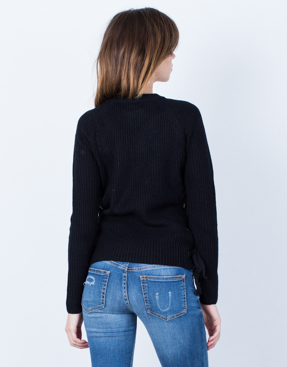 Back View of Officially Mine Sweater Top