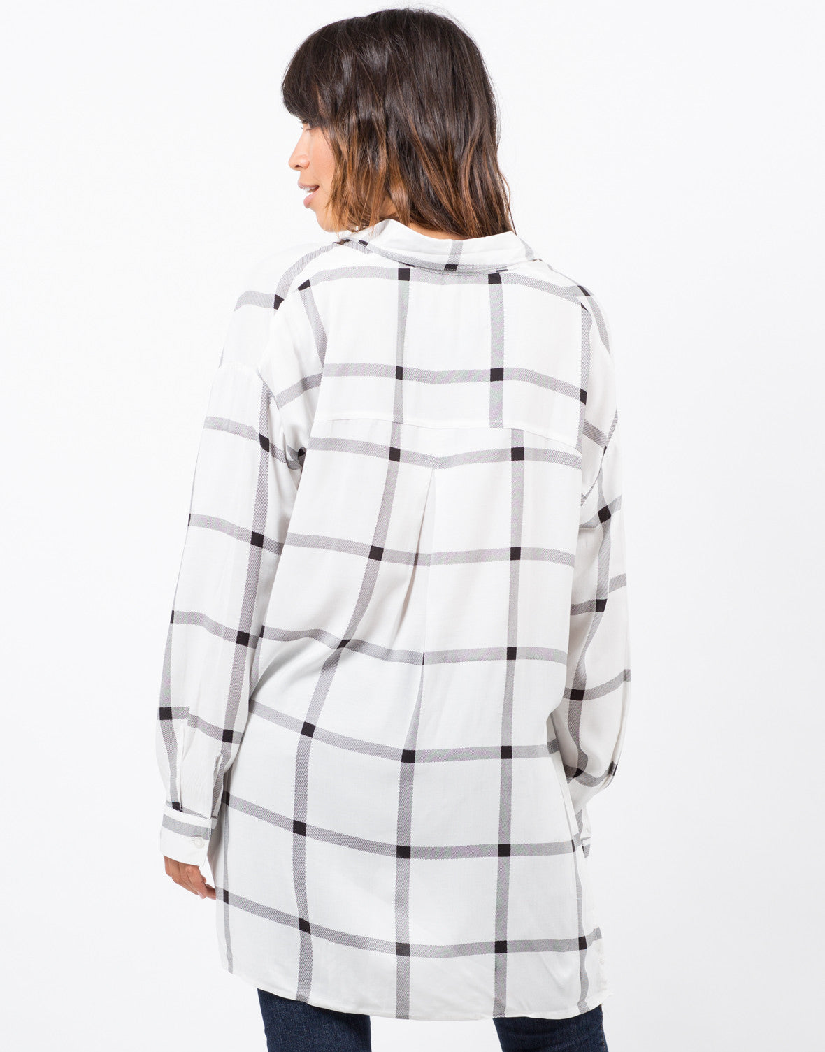 Back View of Off the Grid Woven Shirt