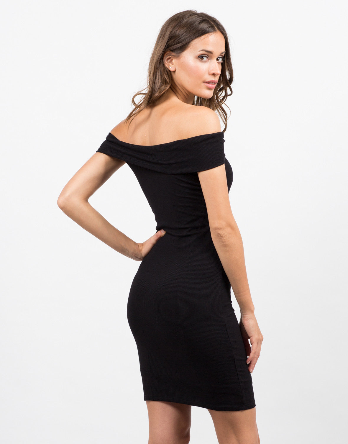 Back View of Off the Shoulder Dress