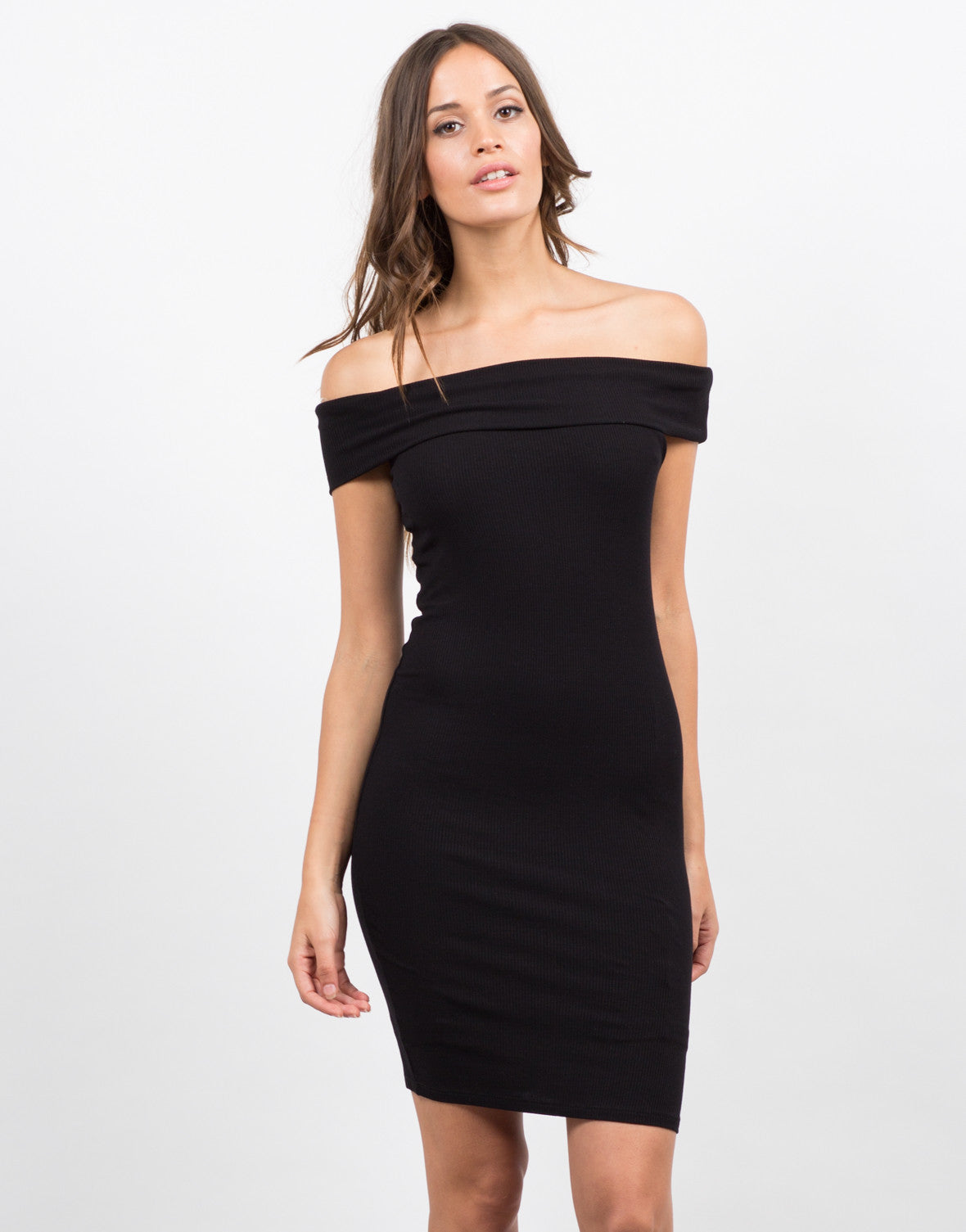 Front View of Off the Shoulder Dress