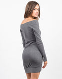 Back View of Off the Shoulder Long Sleeve Dress