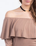 Detail of Off the Shoulder Ruffle Top