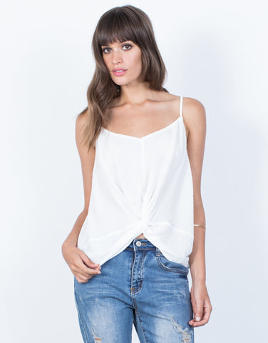 Front View of Olivia Knotted Tank