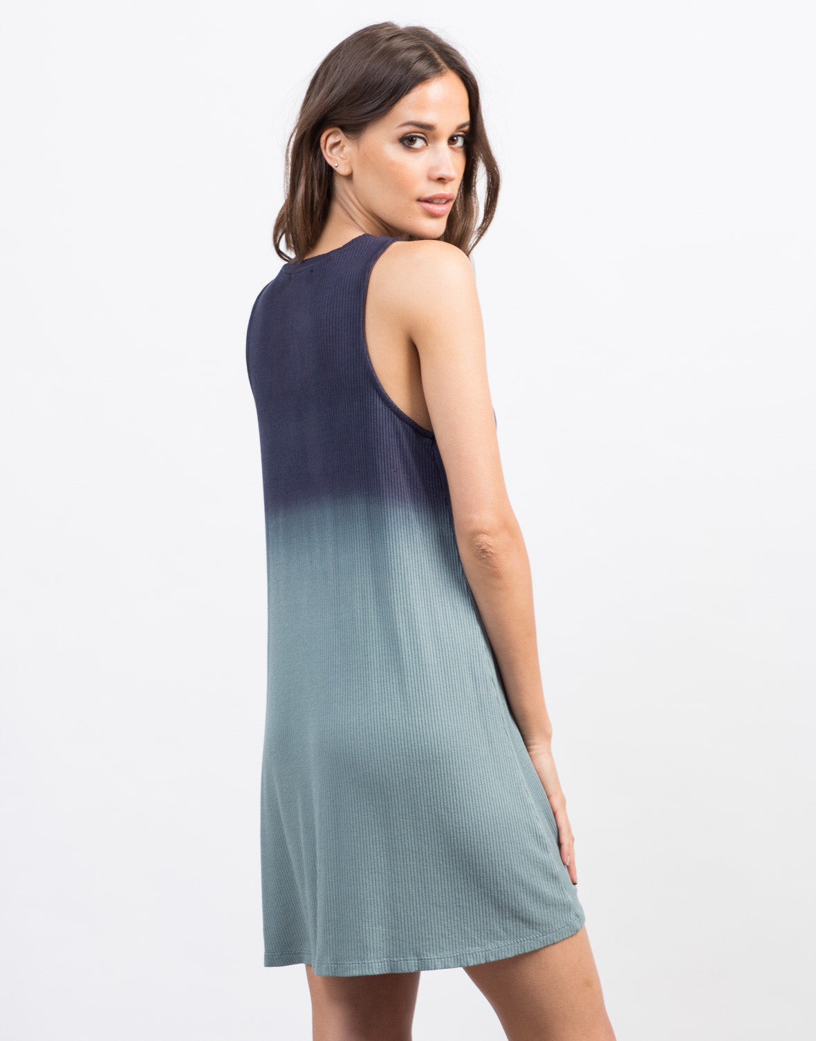 Back View of Ombre Flowy Tank Dress