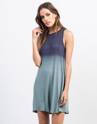 Front View of Ombre Flowy Tank Dress