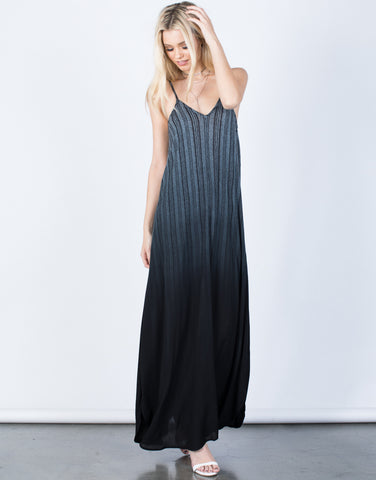 Front View of Ombre Maxi Dress