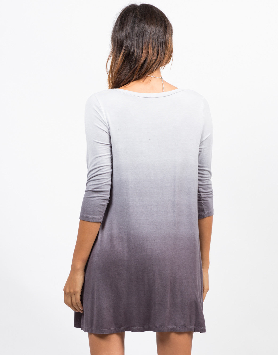 Back View of Ombre Jersey Dress