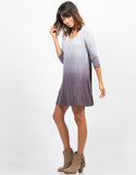 Side View of Ombre Jersey Dress