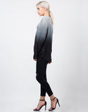 Side View of Ombre Long Sleeved Blouse