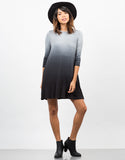 Front View of Ombre Swing Dress