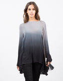 Front View of Ombre Tunic Blouse
