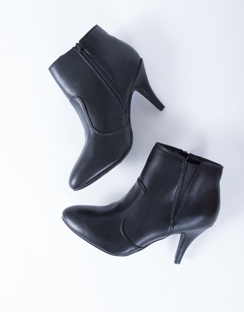 On Point Leather Booties - 2020AVE