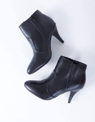 On Point Leather Booties