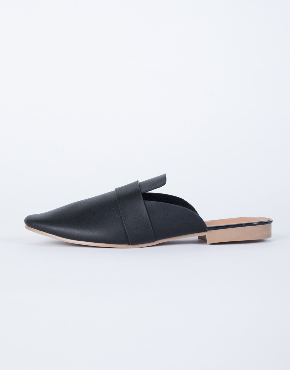 Faux Leather Loafer Slides – 2020AVE