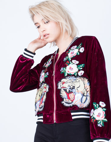 On the Prowl Velvet Bomber Jacket - 2020AVE