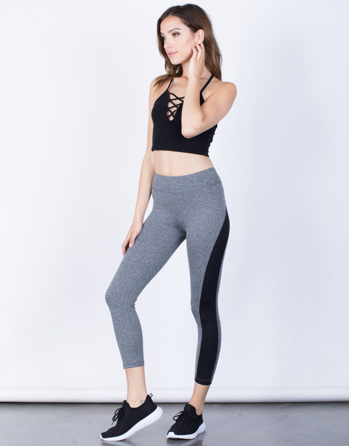 Side View of On the Run Leggings
