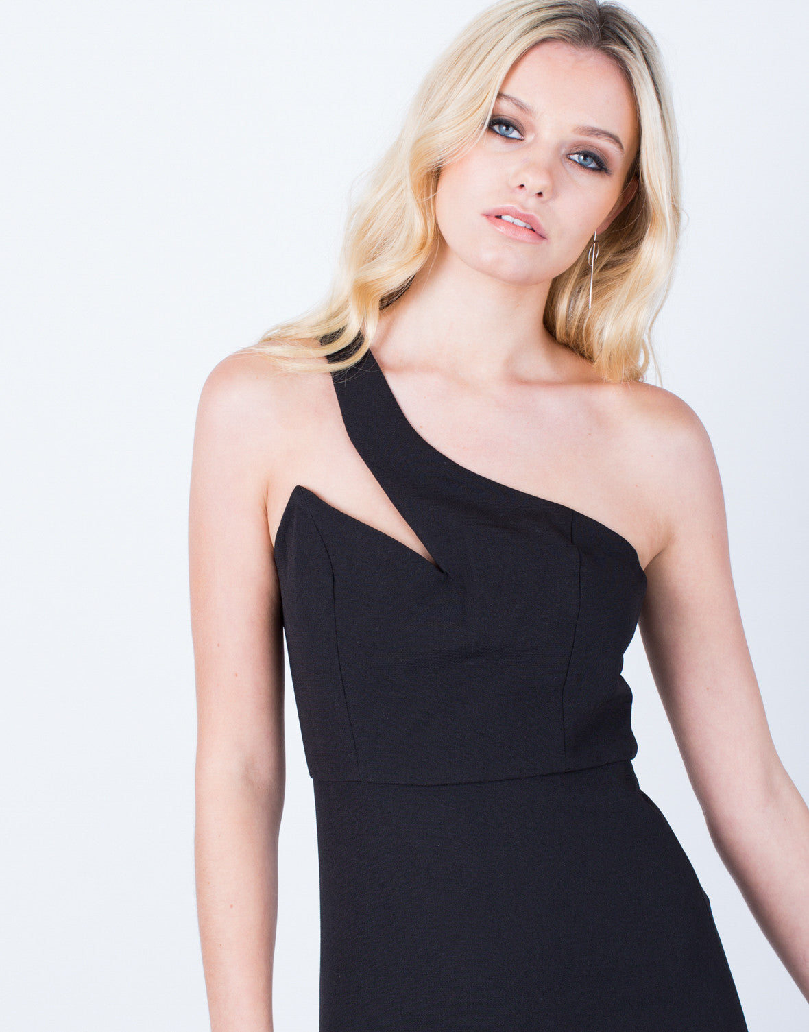 Detail of One Shoulder Bodycon Dress