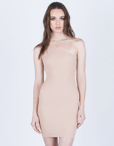 One Shoulder Choker Dress