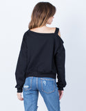 Back View of One Shoulder Sweater