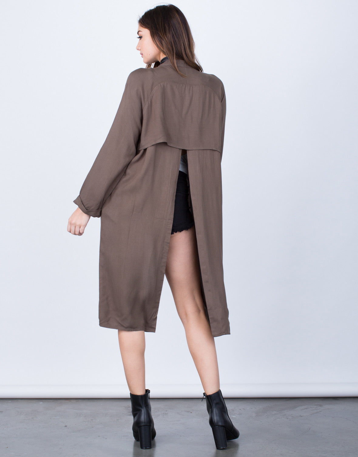 Back View of Open Back Jacket