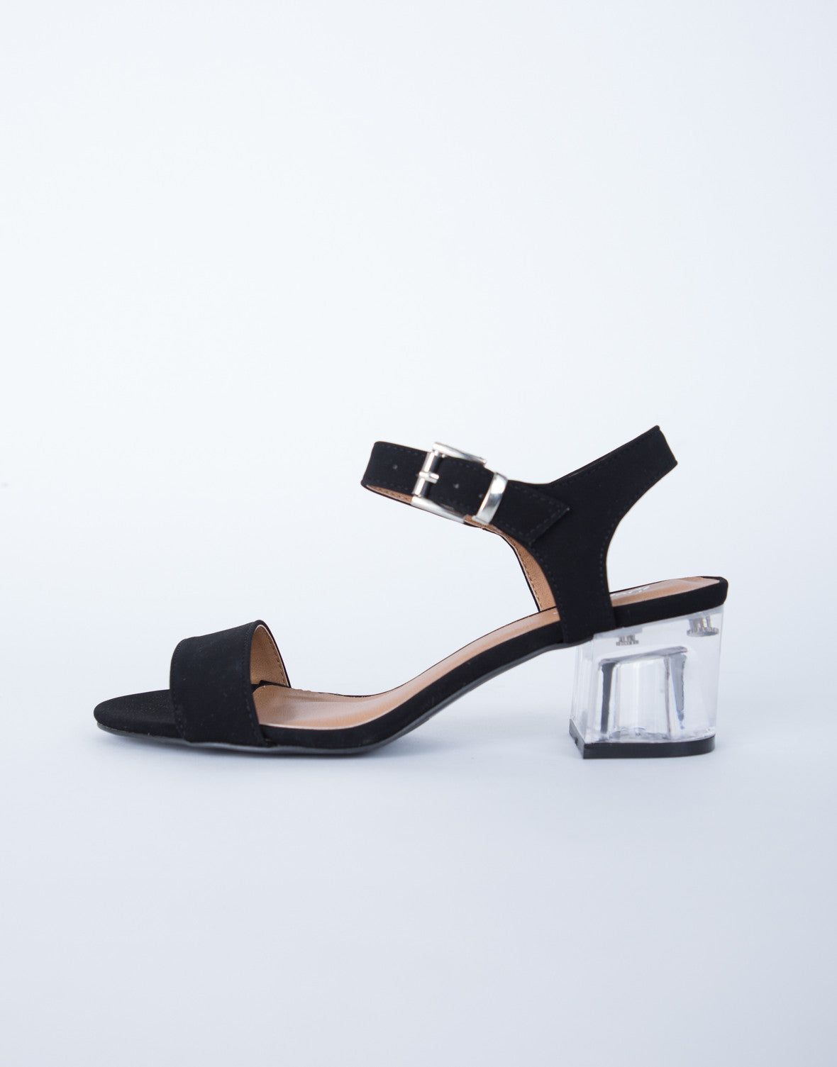 Open Toe Block Heels