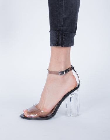 Open Toe Clear Heels