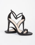 Leather Open Toe Heel Sandals