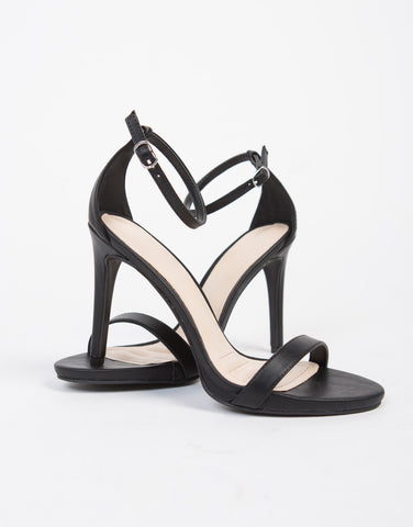 Leather Open Toe Heel Sandals - 2020AVE