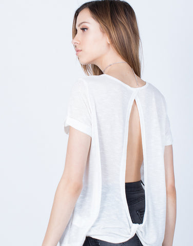 Detail of Open Twist Back Tee