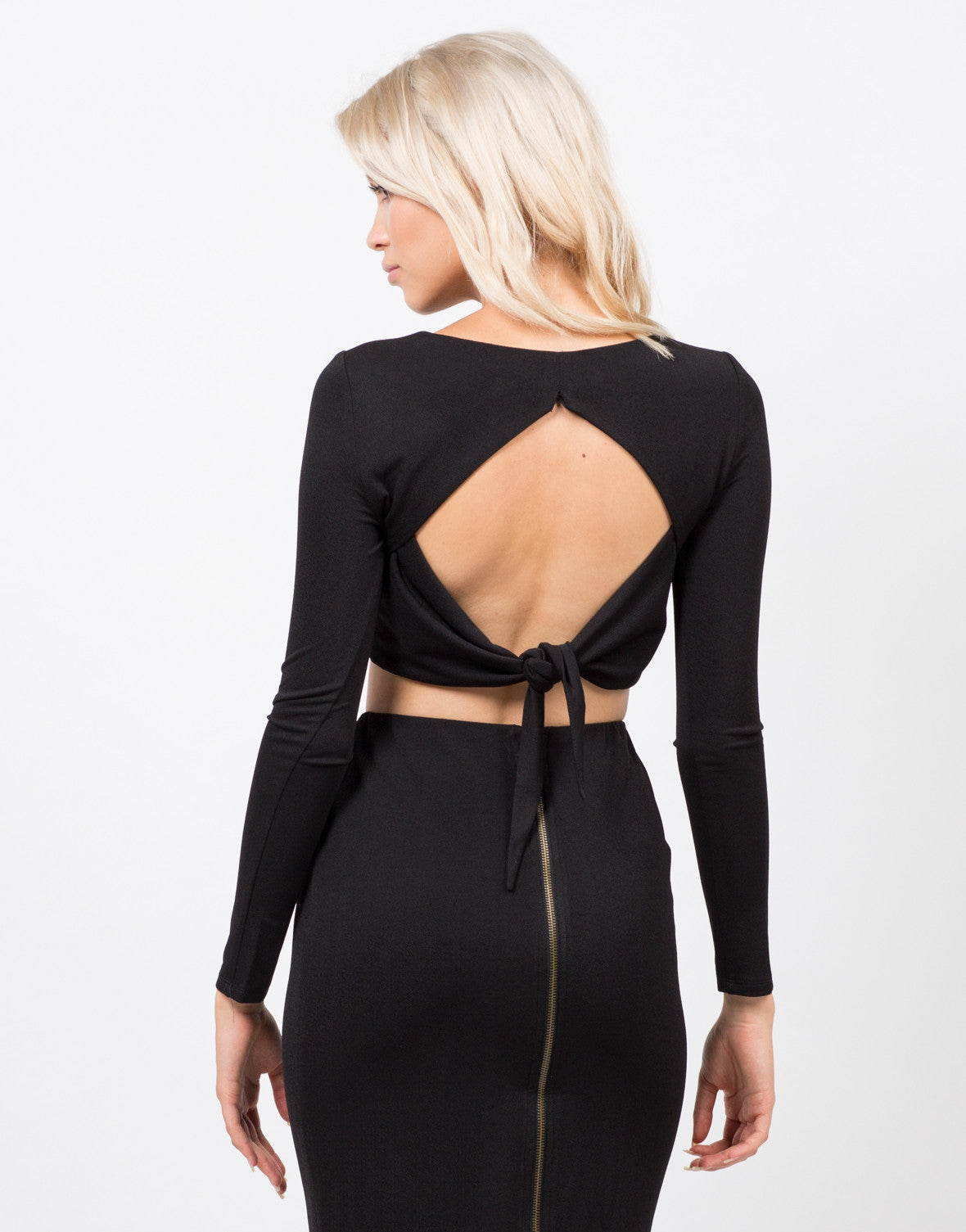 Back View of Open Back Crop Top