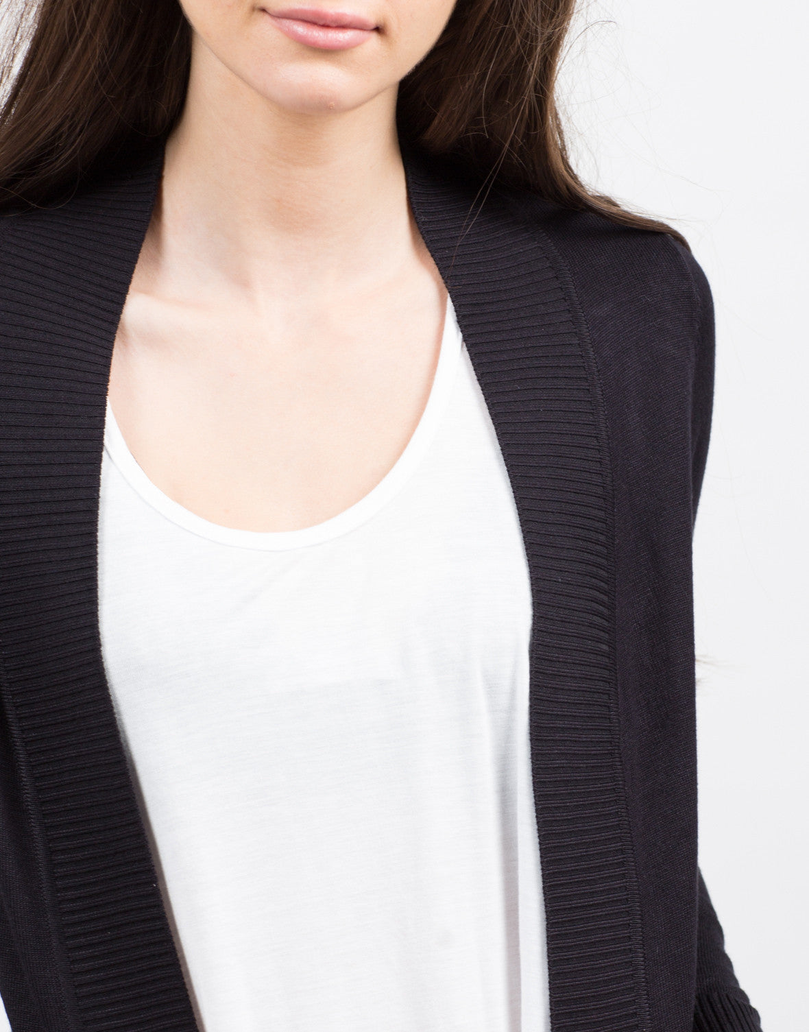 Detail of Open Ribbed Cardigan