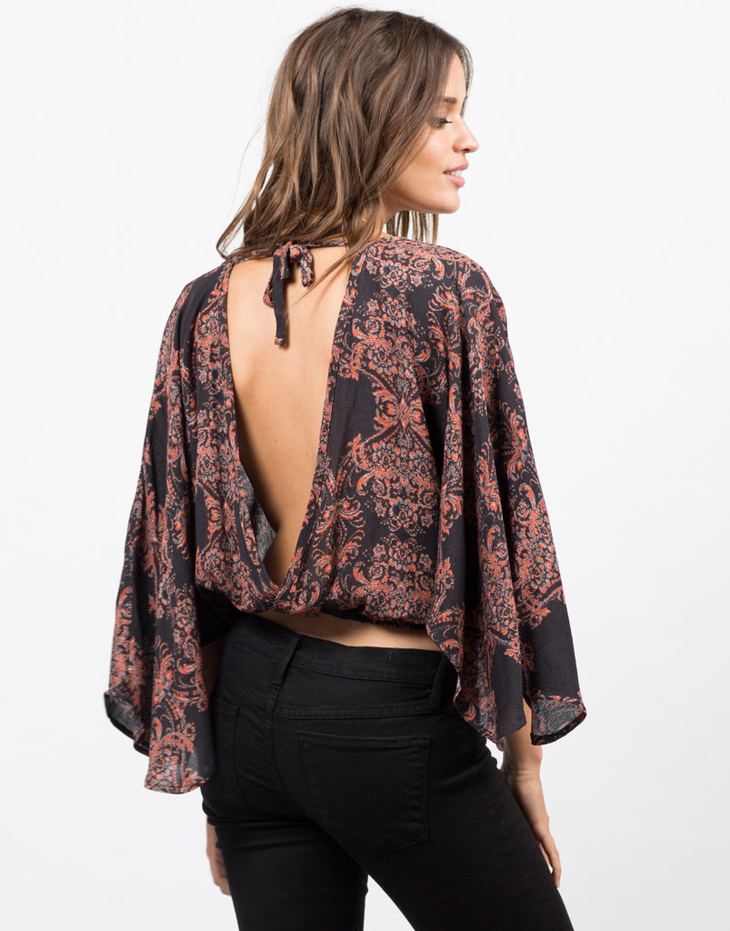 Open Sleeved Printed Top - 2020AVE