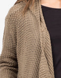 Detail of Open Stitch Hooded Cardigan