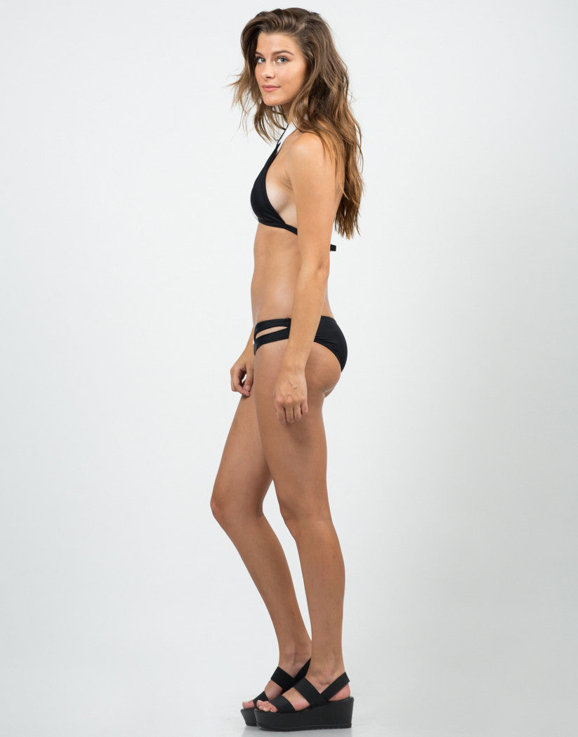 Side View of Opposites Attract Bikini Set