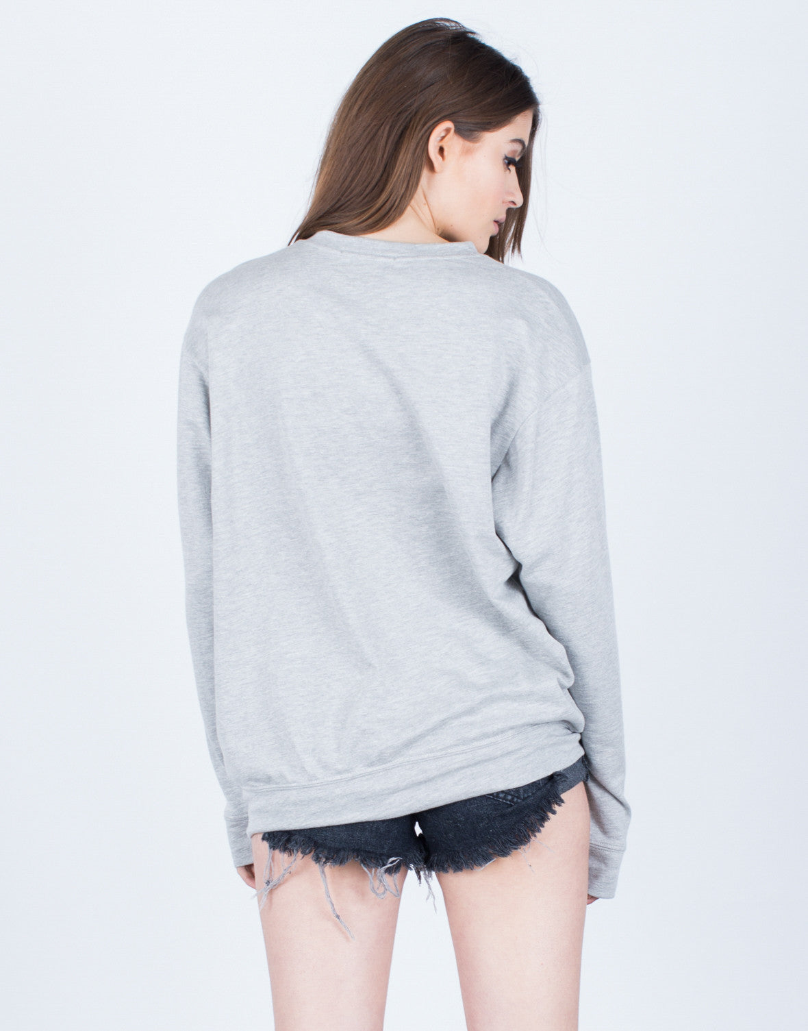Back View of Outer Space Sweatshirt