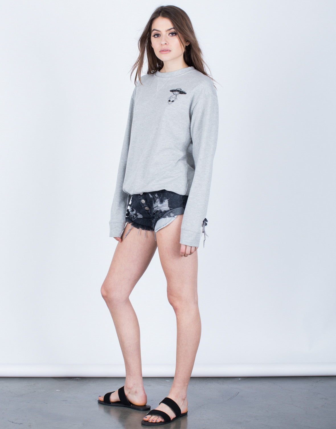 Side View of Outer Space Sweatshirt
