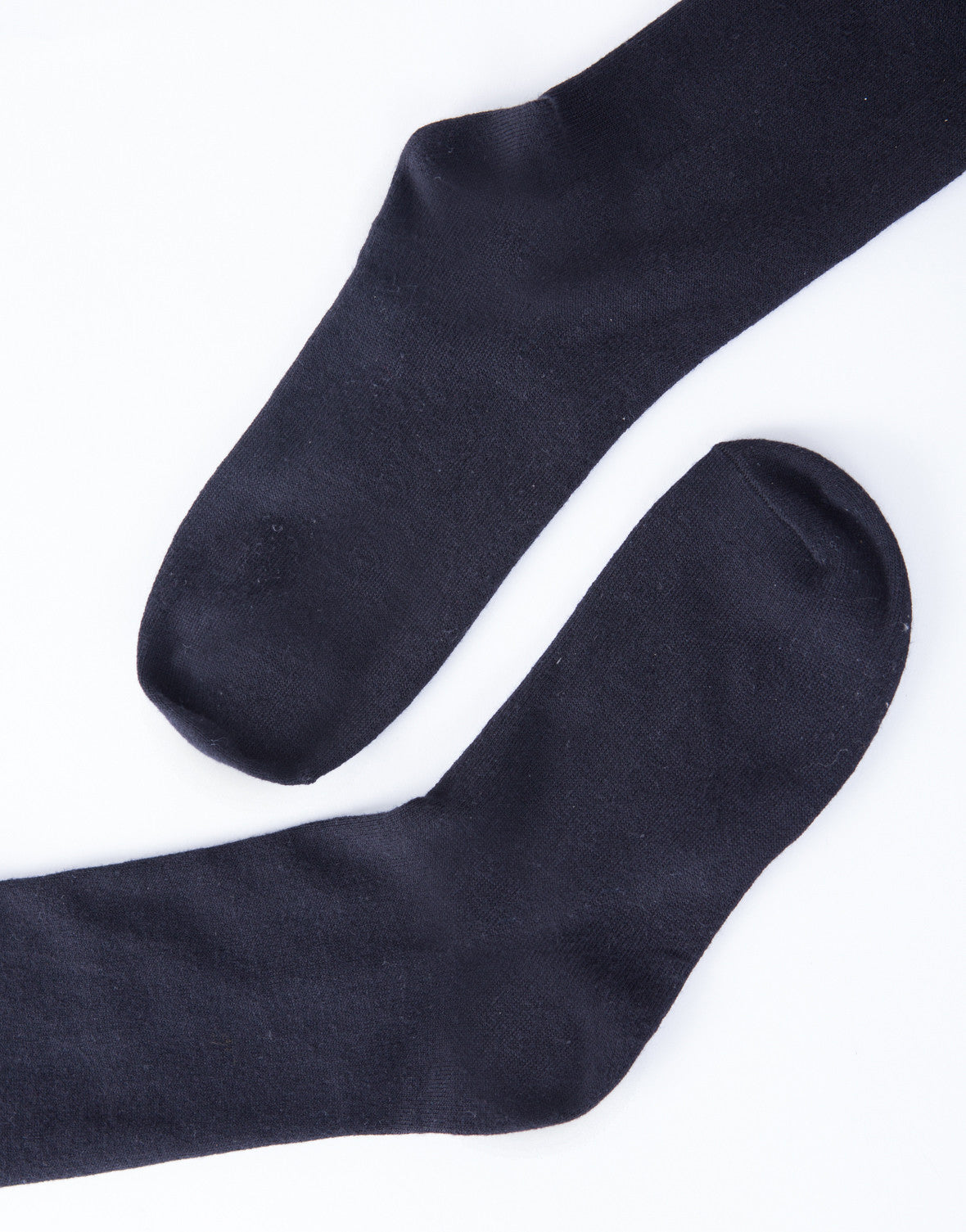 Over-the-Knee Solid Socks - Black