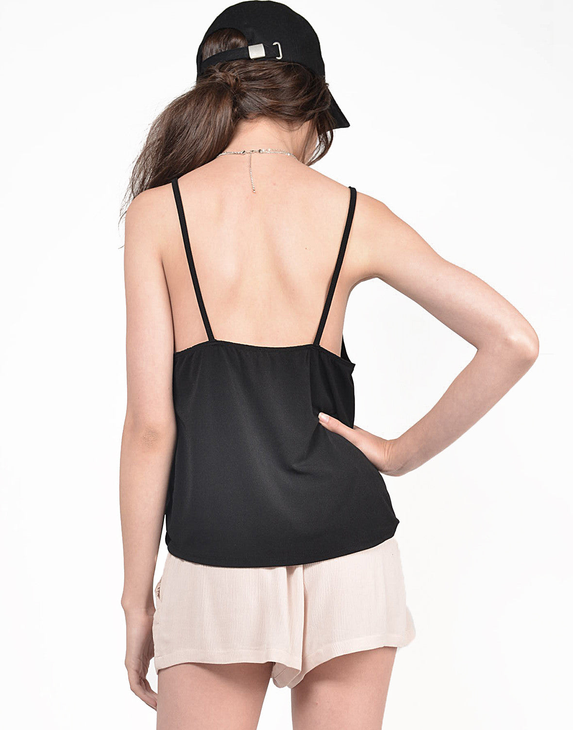 Back View of Overlapping Cami Top