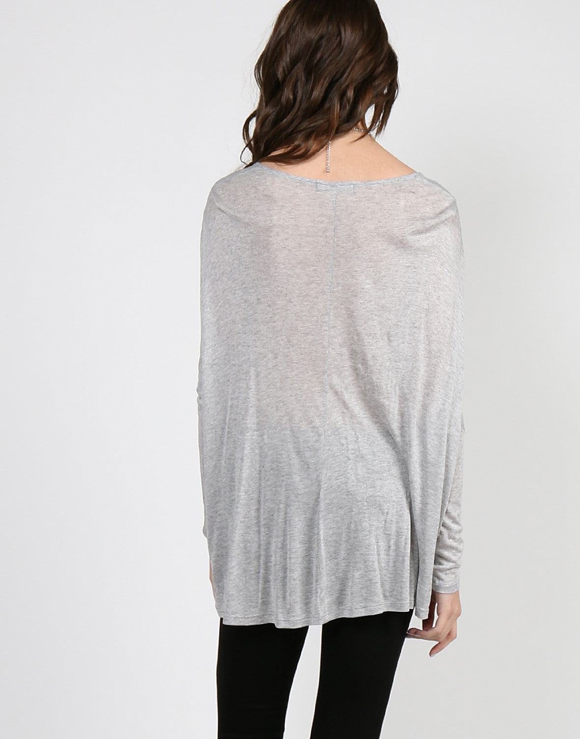 Overlapping Draped Jersey Top